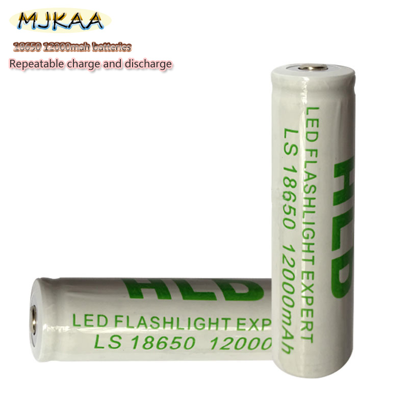 10pcs 18650 Battery 3.7V 12000mAh Rechargeable Li-ion   For Led Flashlight Batery Litio Battery Cell