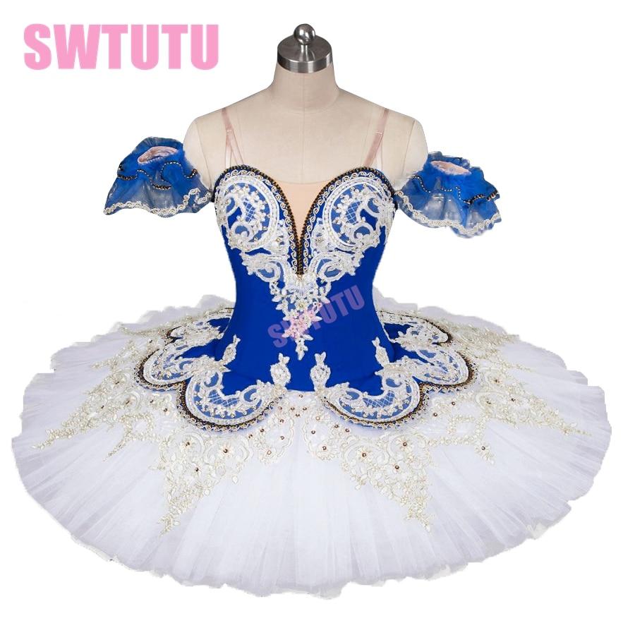 Sovande skönhet balett tutu kvinnor blå fågel professionell tutu pannkaka balett scen kostymer för flickor BT9044A