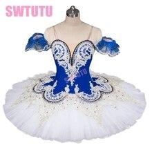 2015 New Arrival!classical ballet tutu in white,blue professional tutu,pancake tutu,ballet rehearsal tutu,girls
