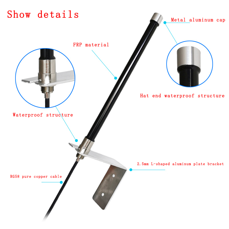 GSM GPRS 2.4G 5.8G Outdoor Omnidirectional Waterproof Antenna SMA Male 5m Line 4G LTE High Gain DTU Base Station  WIFI Antenna