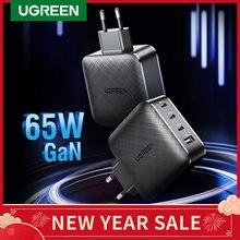 Ugreen 65W GaN şarj hızlı şarj 4.0 3.0 tip C PD USB şarj QC 4.0 3.0 hızlı şarj cihazı iPhone 12 Pro Xiaomi dizüstü