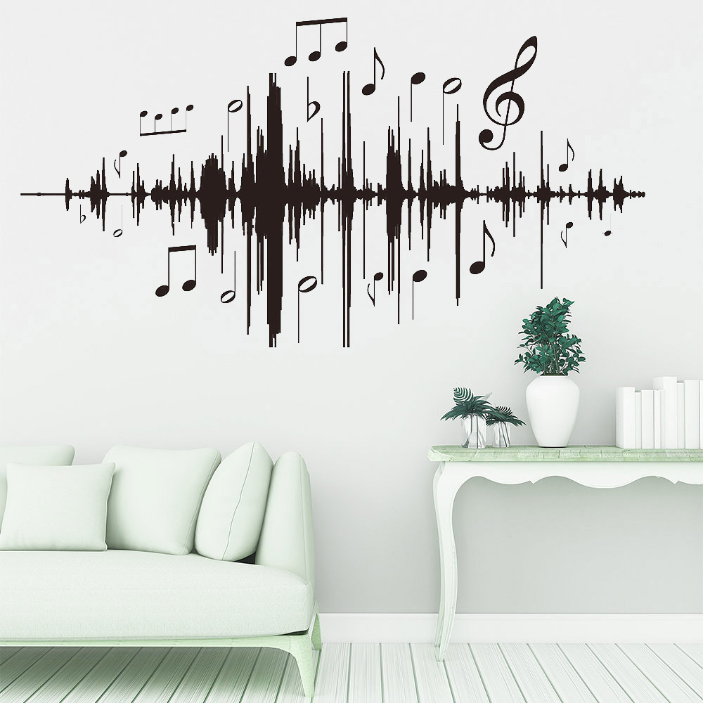 Us 841 Music Audio Note Wall Stickers Vintage Classroom Wall Decals Vinyl Home Interior Wall Murals For Living Room Decoration Y339 On Aliexpress