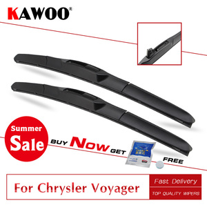 "KAWOO For Chrysler Voyager 26""26"" 2001 2002 2003 2004 2005 2006 2007 Soft Rubber Windcreen Car Wiper Blade Fit U Hook Arm(China)"