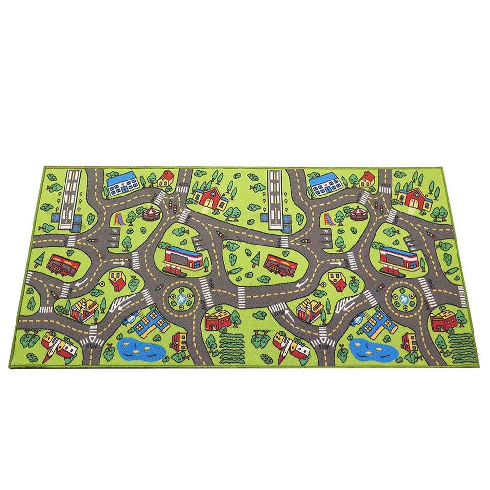 Baby Plush Carpet Traffic Pattern Carpet Mat Anti-Slip Anti-Fall Game Crawling Mat Educational Toy &Toddler Gift For Girl Boy