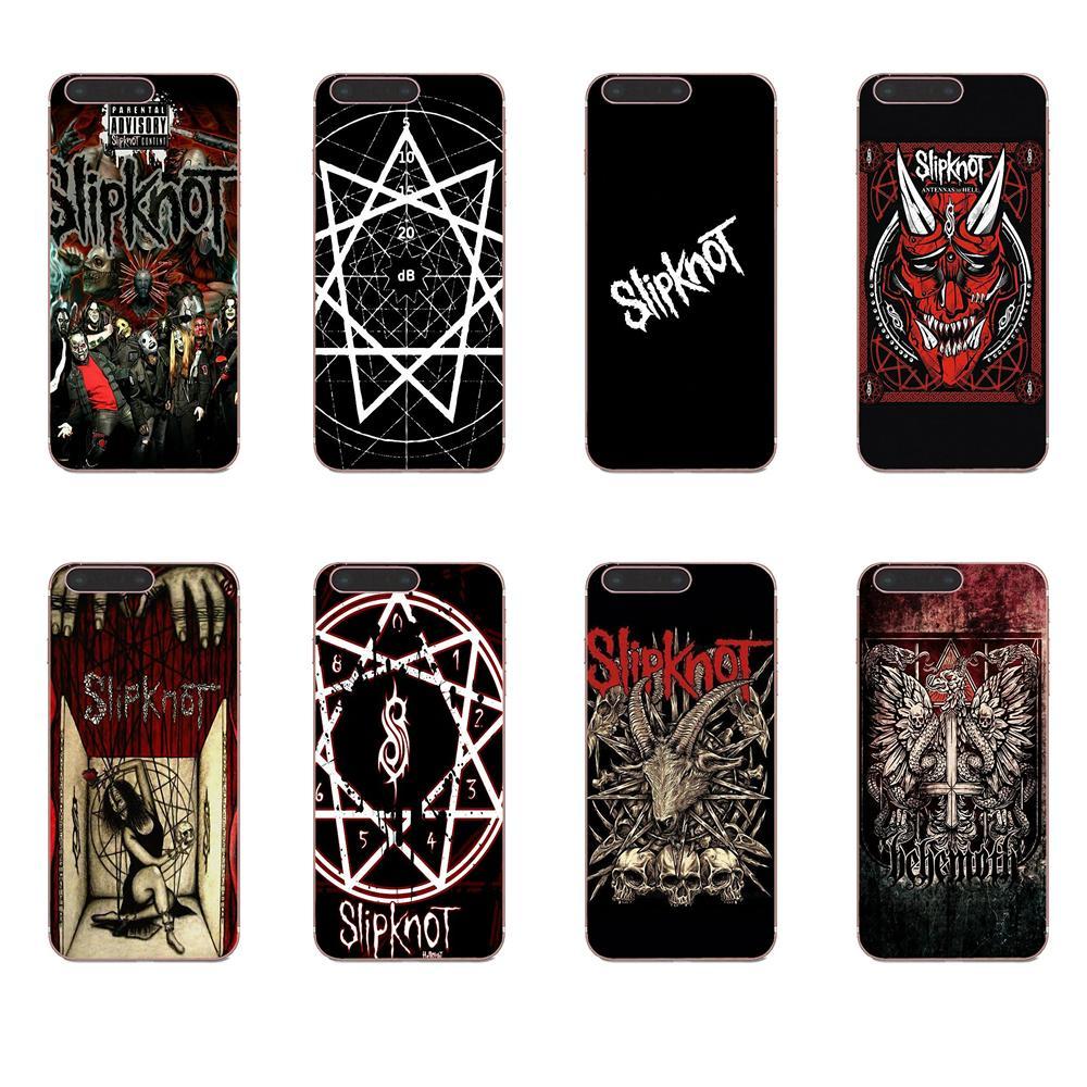 Slipknot phone case Samsung galaxy s10 plus s10e s9 s8 s7 edge s6 s5 note 8 9 10 hard plastic transparent silicone mobile phone cover art Slipknot