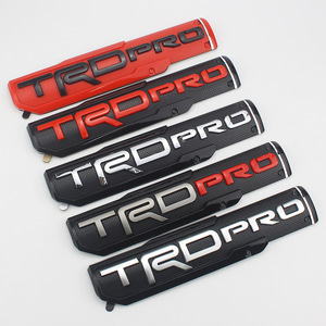 Alta calidad ABSCar emblema Fender Puerta de coche 4Runner logotipo insignia emblema estilo de coche para Toyota TRD carretera TRDPRO Tacoma Tundra