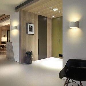 Image 2 - Modern Plaster Wall Light Handmade Gypsum Lamp 110V 220V Wall Mounted LED Sconce Living room Bedroom Luminaire Indoor Wall Lamps