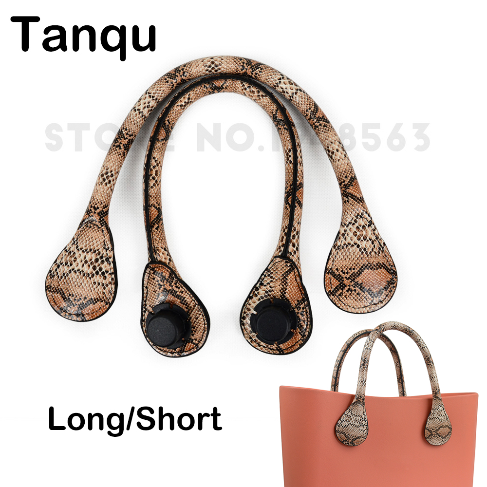 TANQU Long Short Faux Snakeskin Snake Skin Handle For Obag Serpentine PU Leather Handle Strap For O BAG Ochic O Chic Accessory