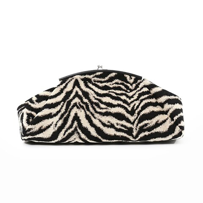 2019 New Fashion Women Evening Party Purse Bag Zebra Pattern Large Big Ruched Pillow Bag Leather The Pouch Briefcases Handbag