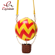Cute Hot Air Balloon Design Color Striped Fashion Women Shoulder Bag Tote Crossbody Bag Ladies Purses and Handbags Tote Bag trendy color block and canvas design women s tote bag