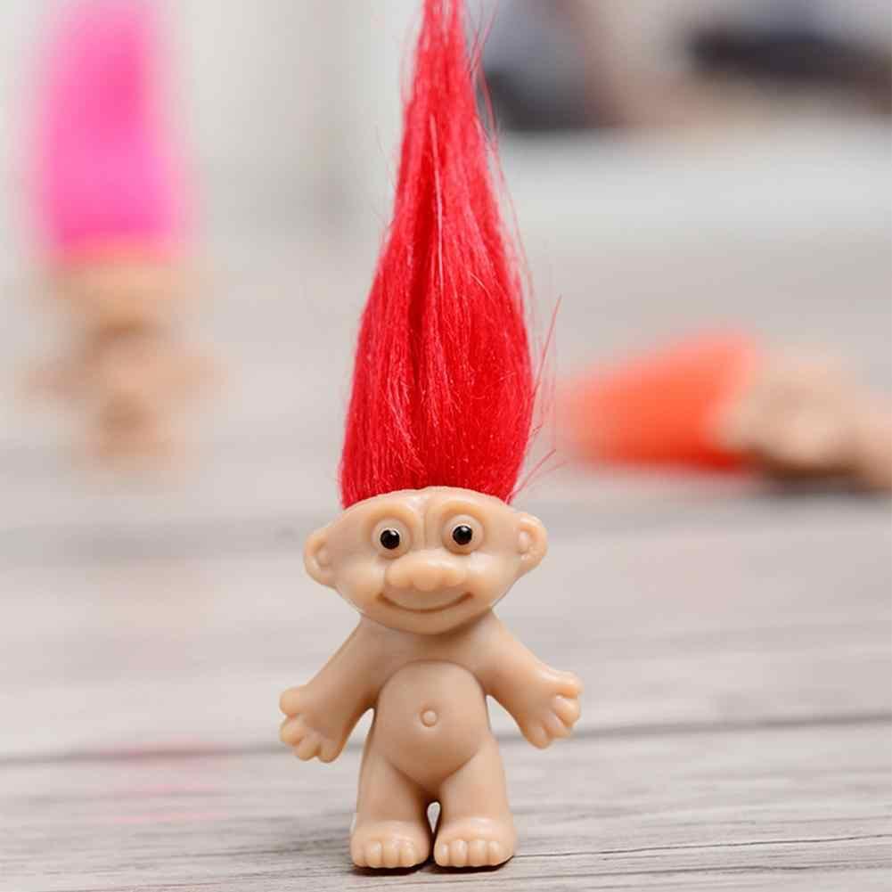 חם אנימה צלמית טרולים בובה רך בפלאש מיני טרול איור צעצועי Figurinhas פרג סניף קסם פיות שיער אשף 5 יח'\סט