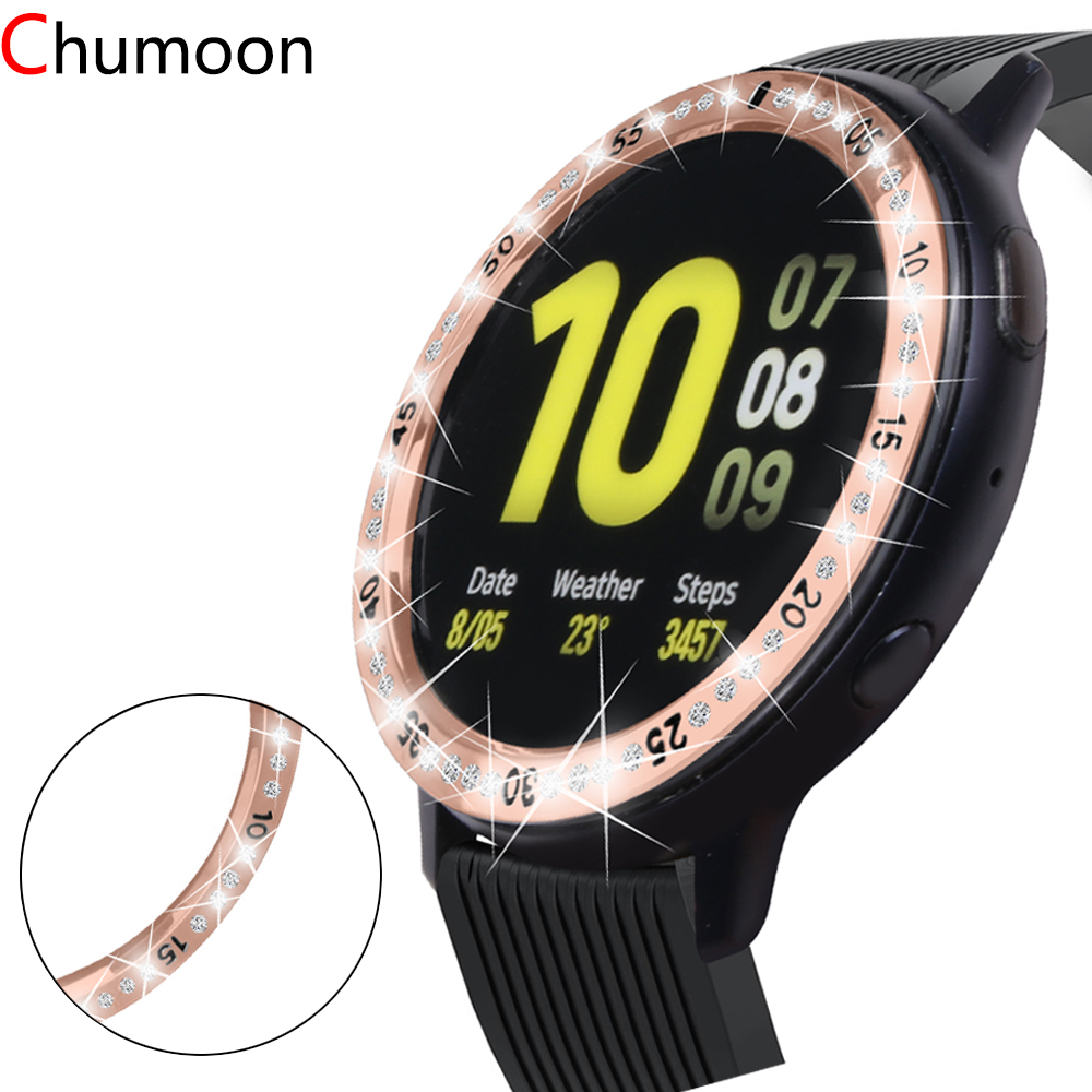 Diamond Bezel for Samsung Galaxy Watch 46mm 42mm Gear S3 Frontier Gear S2 band Bling ring cover accessories Galaxy Watch active image
