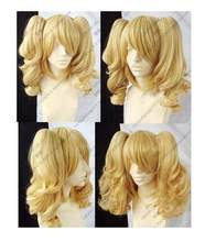 Shun Hot hittebestendige Party haar>>>>> HOT! NIEUWE blonde gemengde COSPLAY Split-Type PRUIK en met 2 varkens-staarten longAA(China)
