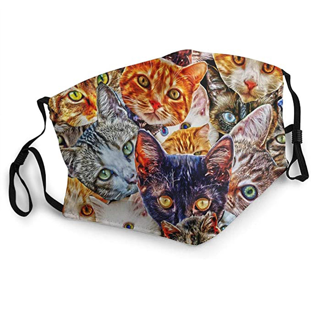 Cute Printed Cat Themed Face Mask