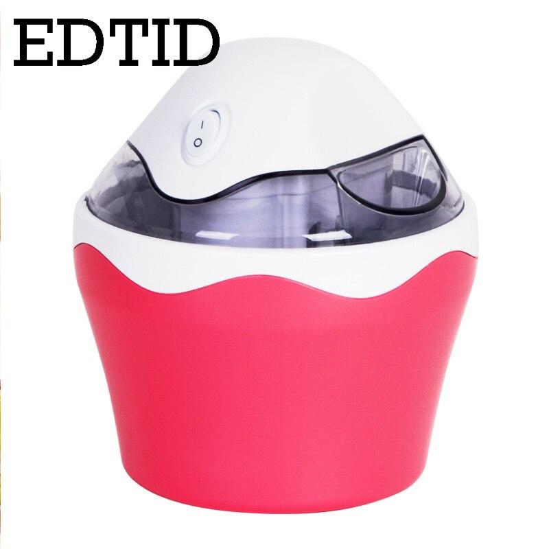EDTID MINI Automatische DIY Eismaschine Milchshake Eis Maschine Kühlen Obst Dessert Sorbet Gefrierschrank Milchshake Mixer EU Stecker