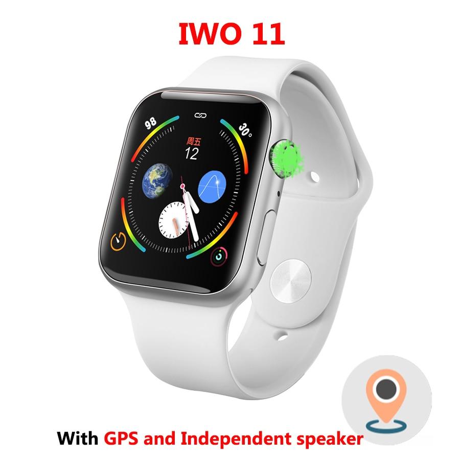 IWO 11 1:1 Série 4 GPS Inteligente Pulseira Inteligente Relógio Bluetooth SmartWatch para Android IOS Atualização IWO 10 9 8 7 6 5