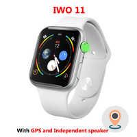 IWO 11 Astuto Della Vigilanza di Bluetooth 1:1 Serie 4 GPS Inteligente Pulseira SmartWatch Android per IOS Aggiornamento IWO 10 9 8 7 6 5