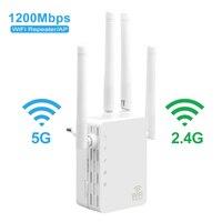 와이파이 범위 익스텐더 1200Mbps 듀얼 밴드 2.4/5GHz 와이파이 인터넷 신호 부스터 무선 리피터 라우터 홈 네트워크 용품