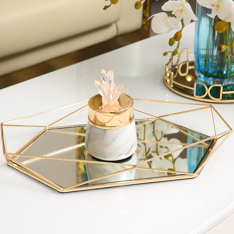 Gold Stainless Steel Mirrored Tray Home Decor Round Gateby Serving Tray Luxury Candle Centerpiece Storage Tray Storage Trays Aliexpress