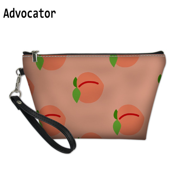 ADVOCATOR New Stylish Pink Peach Printing Makeup Pouch For Women Makeup Case For Girls Travel Handbag Cosmetic Bag Mochila