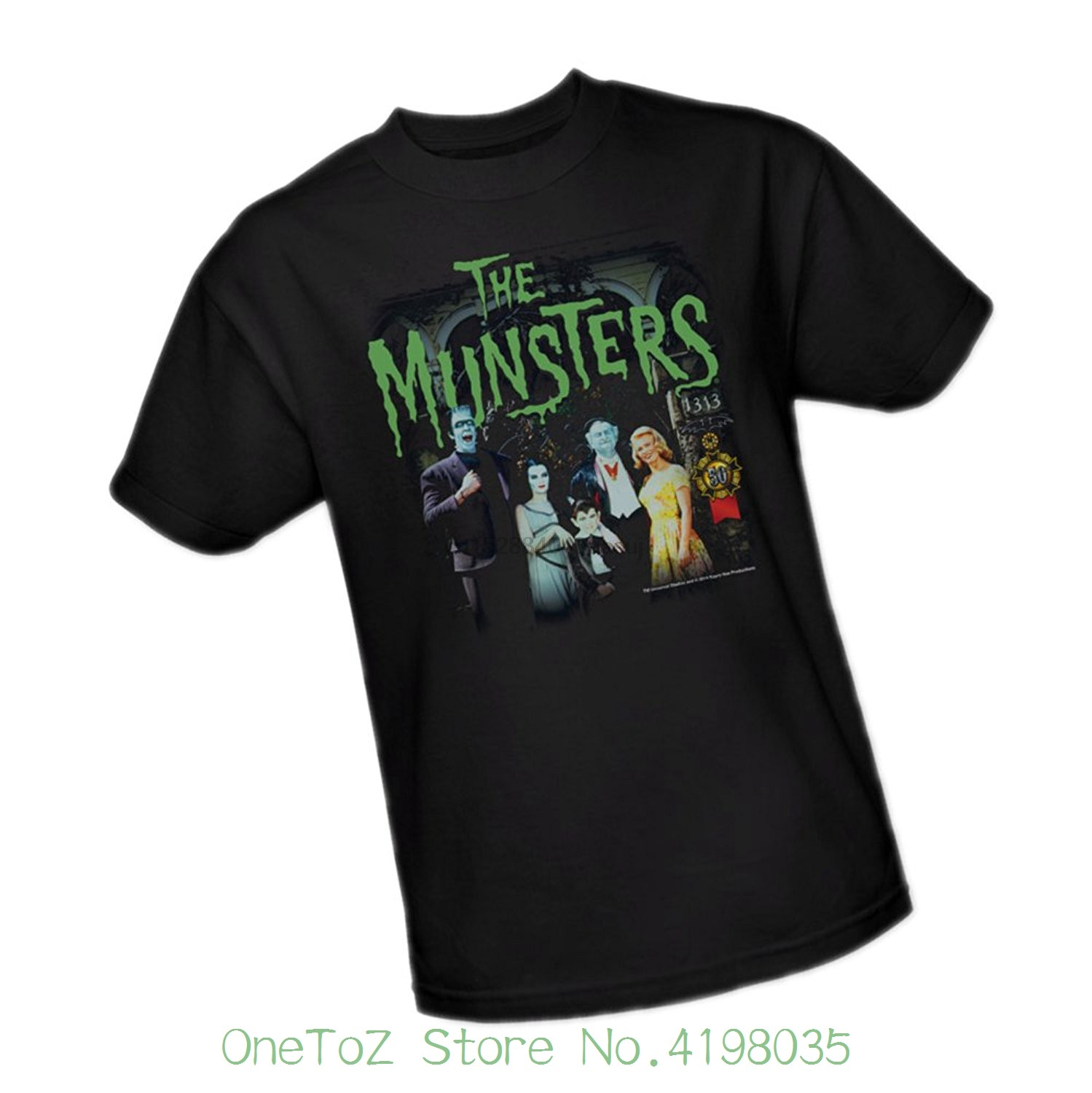 1313 - - 50th Anniversary - - The Munsters Youth T-shirt Men T Shirt Great Quality Funny Man Cotton
