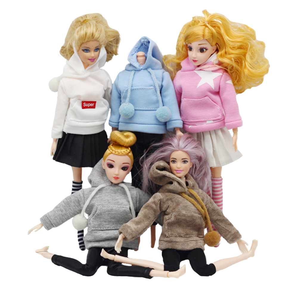 Fashion Doll Clothes Sweatshirt Coat For Barbies Doll Clothes For Blythes Doll Outfits Pants 1/6 Dolls Accessories
