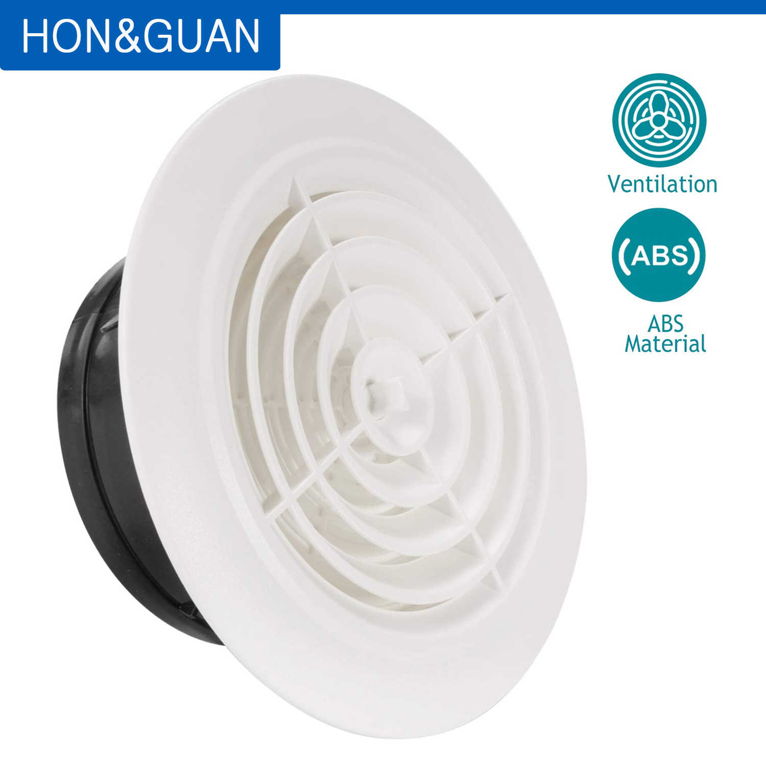 3 8 round plastic grill louver adjustable grille cover wall window ceiling ventilation outlet for bathroom kitchen exhaust vent