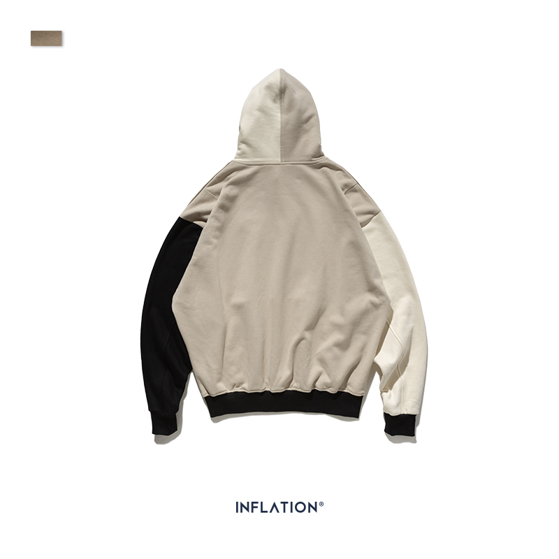 Image 5 - INFLATION Design FW 2019 Contrast Color Men Fashion Hoodies Block
