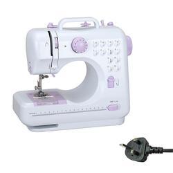 Máquina de coser para el hogar, versión de 12 puntadas, botón de un paso con pequeño cajón, Tangent eléctrico, Mini Dispositivo de costura multifuncional