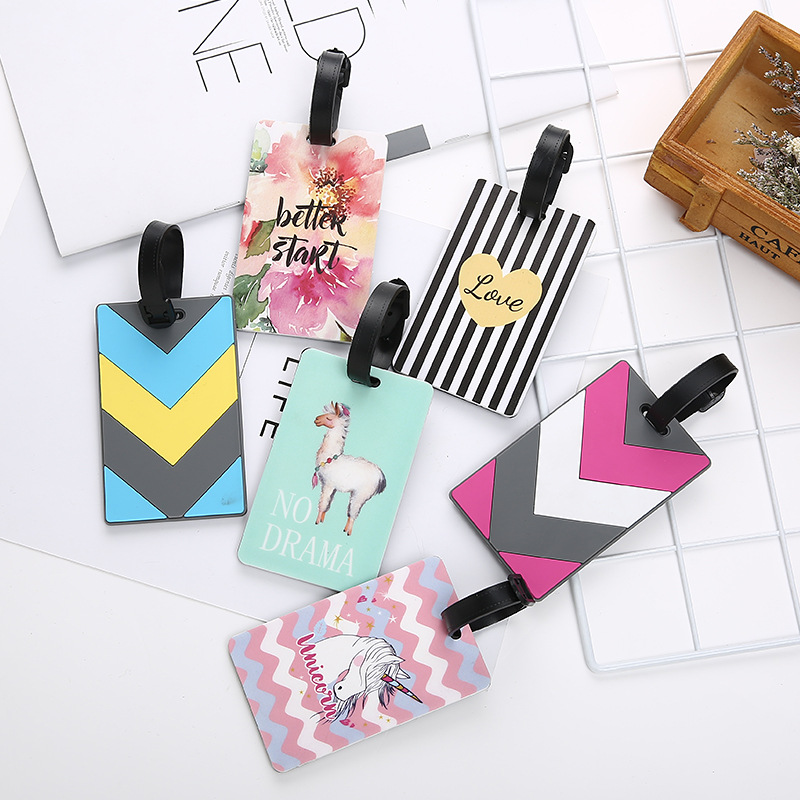 Bags-Accessories Straps Label Suitcase Luggage-Tags Rubber Addres-Holder Funky Travel Id