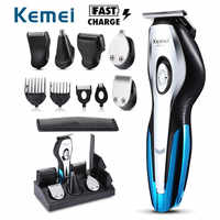 KEMEI Rechargeable Electric Hair Trimmers 11 in 1 Hair Clipper Electric Shaver Beard Trimmer Men Shaving Machine Nose Trimmer