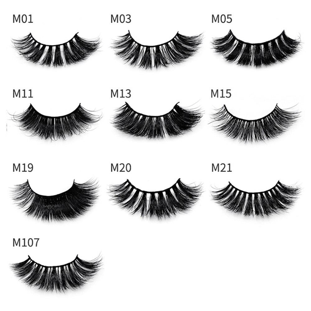 1Pairs Makeup Mink Lashes False Eyelashes Natural Soft Lashes Glitter Case Box Fake Eyelashes Long Eyelash Extension For Makeup in False Eyelashes from Beauty Health