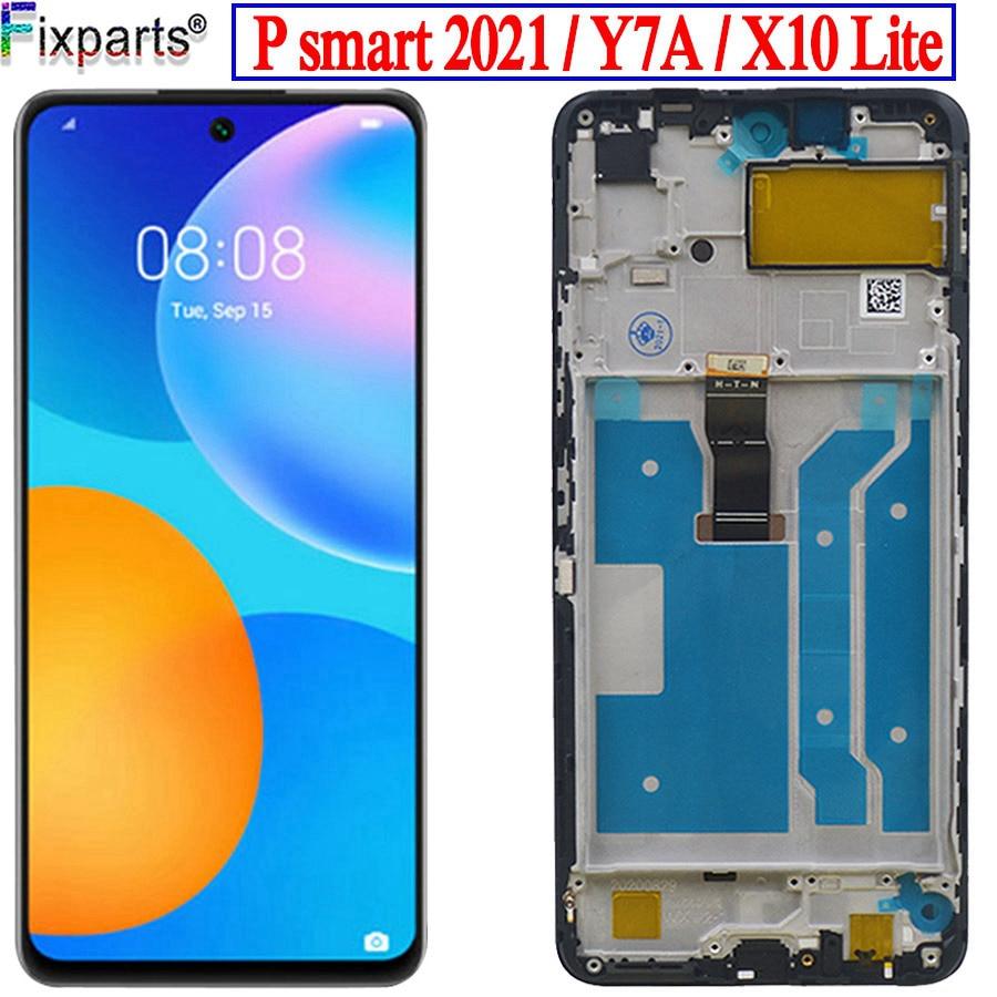 Новинка для Huawei P smart 2021 ЖК-дисплей с сенсорным экраном дигитайзер для Huawei Honor 10X lite X10 lite DNN-LX9 для Huawei Y7a с ЖК-дисплеем