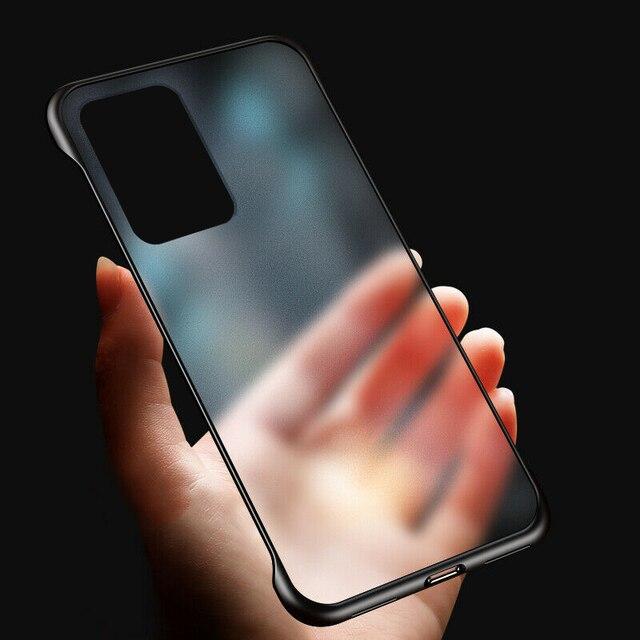 Étuis sans cadre de luxe Ultra minces pour Samsung Galaxy S20 A51 A71 S9 S10 Plus Note 10 9 S9 mat dur sans cadre