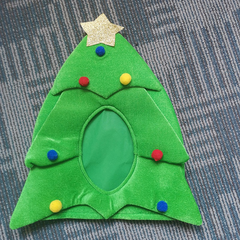 Christmas Tree Hat , Funny Christmas Hat, Novelty Santa Hat Holiday Theme Hat