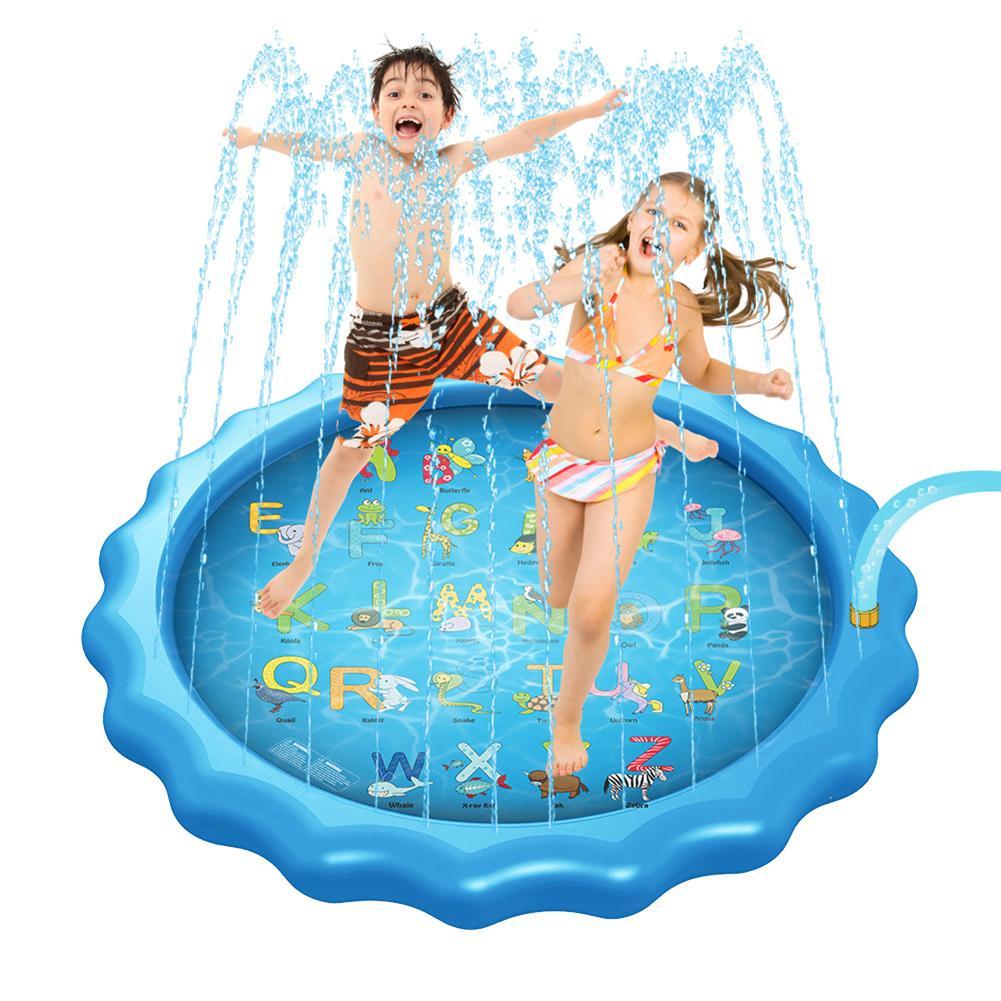 Coussin d'eau en aérosol gonflable   Jouets d'été, extérieur, en PVC, jouets d'eau, tapis de jeu, jeux d'eau, pelouse de plage, arroseur