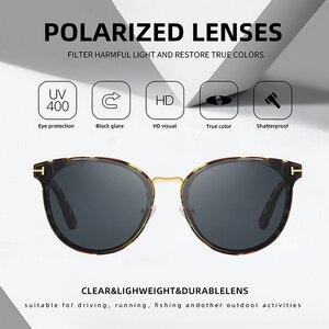 Image 3 - Мужские солнцезащ. Очки в круглой оправе AOFLY, черно золотистые солнцезащитные очки в круглой оправе с поляризованными линзами, пригодными для вождения, лето 2019