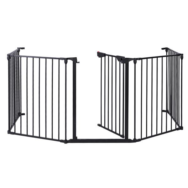 5 шт/6 шт стальные заборы Для каминной безопасности, забор для детей, забор для домашних животных, изоляционные ворота, барьер для детской лес... - 3