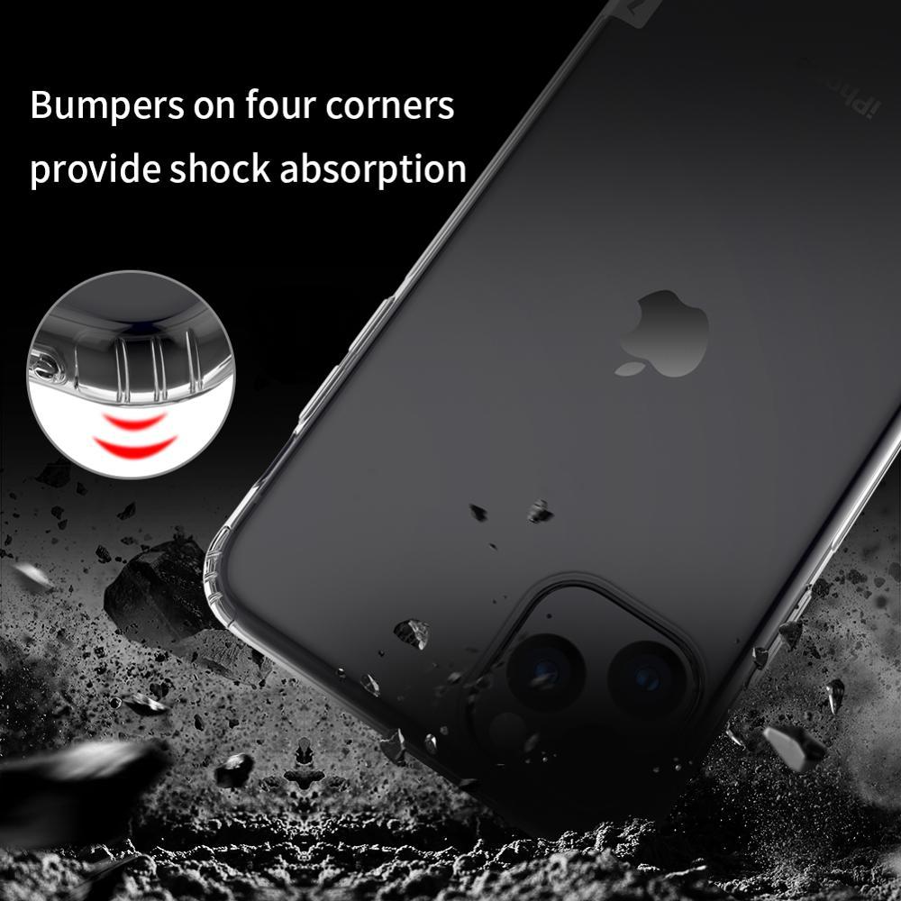 Kasus untuk iphone 11 Pro Max NILLKIN Nature TPU Transparan Batal - Aksesori dan suku cadang ponsel - Foto 6