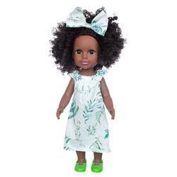 Черные куклы для новорожденных, поп-зеленый африканский реборн из силикона, виниловая мягкая игрушка для новорожденных, 14 дюймов, 35 см