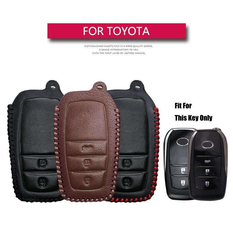 Кожаный чехол для автомобильных ключей, чехол для Toyota Corolla 2020 Chr Aygo Rav4 Hilux Camry 70 40 Land Cruiser 200, аксессуары для ключей Crown
