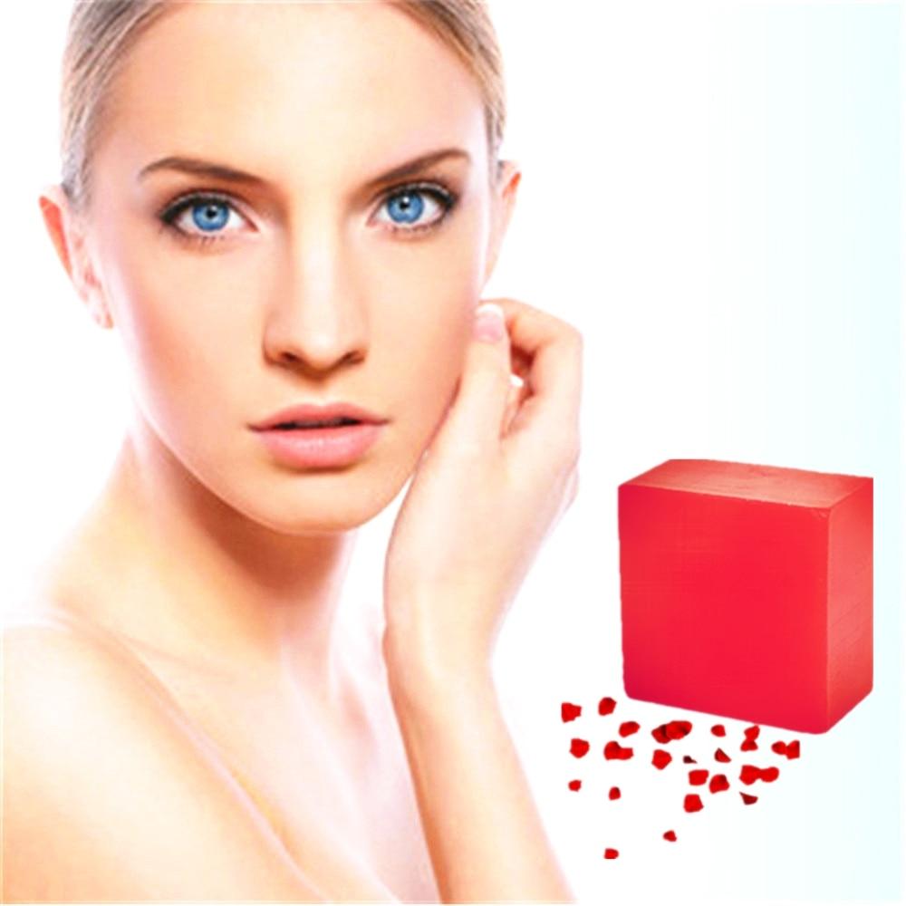 1Pcs Nature Rose Perfume Fragrance Bathing Spa Soap Oil Control Blackhead Remover Handmade Red Wine Rose Soap Skin Whitening