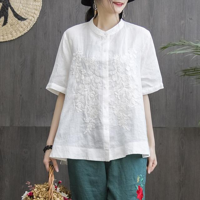 Women Fashion Elegant Casual Look Shirt Female Tops Cute Polka Dot Print Weekend Blouse Summer Single Breasted Shirt and Blouse 3