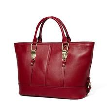 Soft Lichi leather trendy women tote handbag European bag style for fashion