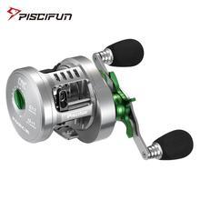 Piscifun força redonda carretel de arremesso de alumínio totalmente usinado 12 + 1 rolamentos de aço inoxidável 5.1:1 relação engrenagem carretel de pesca