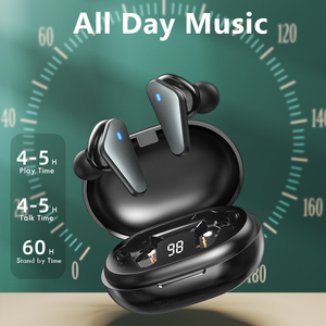 Image 2 - TWS Wireless Bluetooth Earphone Waterproof Sports Headphone 9D Hifi Stereo Mini Earbuds Noise Canceling Headsets With Microphone
