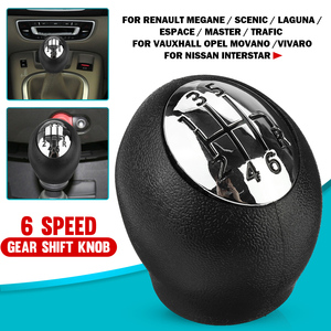 6 Speed Gear Shift Knob Lever Shifter Gear Stick Handball For Renault Megane/Scenic/Laguna/Espace For Vauxhall/Opel Movano