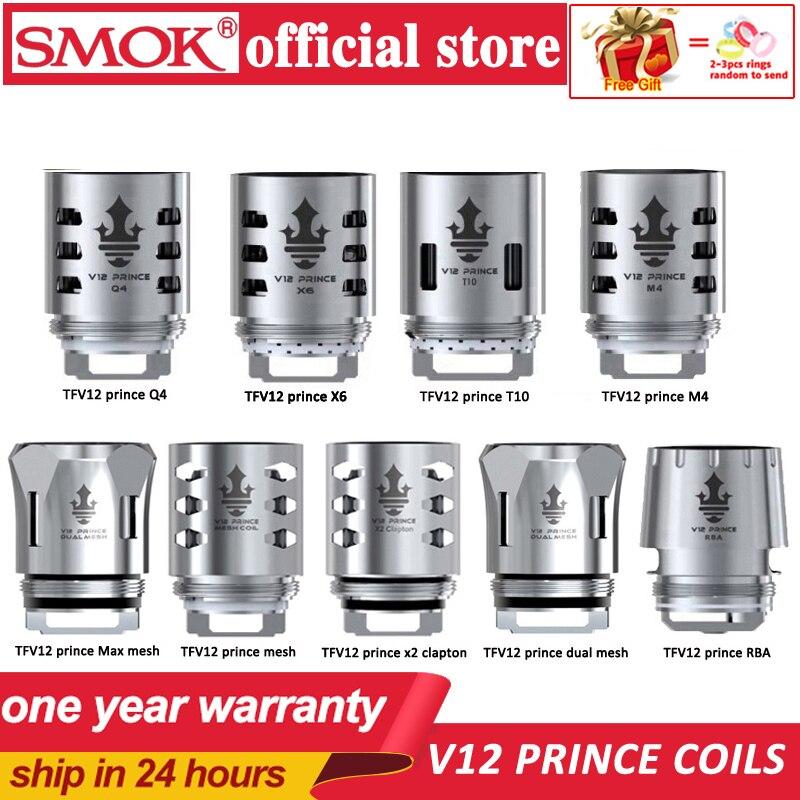 Original SMOK TFV12 Prince Coil V12 Prince RBA Q4 M4 X6 T10 Mesh Dual Mesh Core For TFV12 PRINCE Tank Eletronic Cigarette Cores