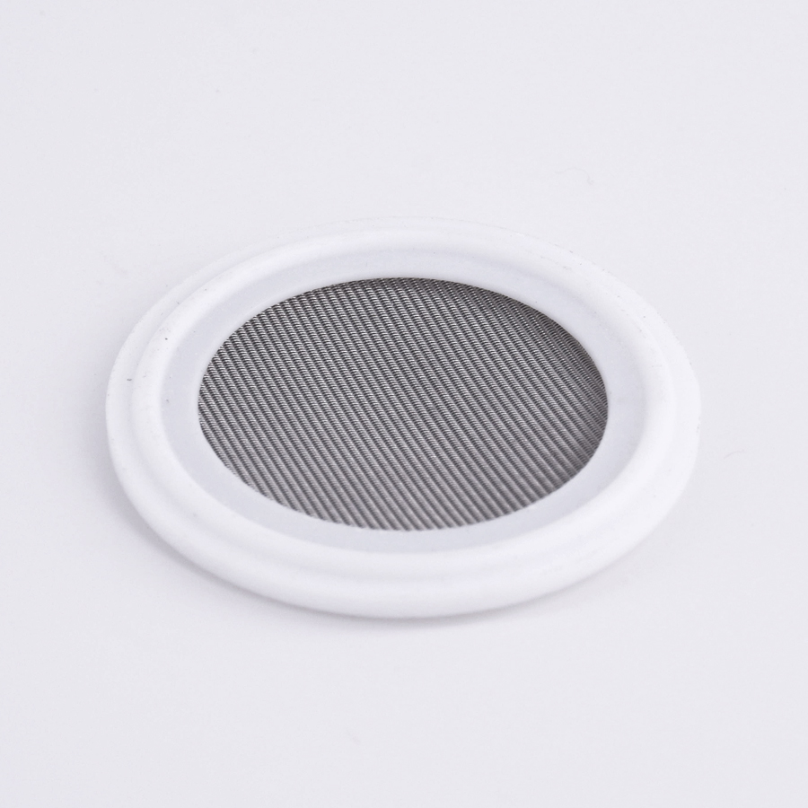 """100/150 Mesh Fit 1.5"""" 2"""" Tri Clamp PTFE Gasket Washer Seal Strip 304 Stainless Sanitary Screen Home Brew Wine Food Grade"""