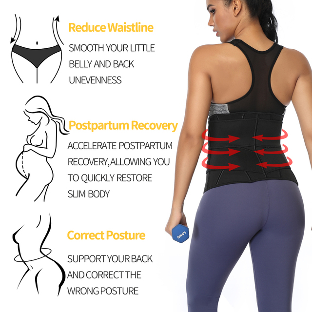 Waist Trainer Neoprene Body Shaper Women Slimming Sheath Belly Reducing Shaper Tummy Sweat Shapewear Workout Trimmer Belt Corset 2